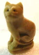 VINTAGE  CHINESE SOAP STONE CAT - $54.45