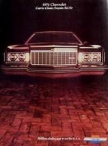 1974 Chevrolet Brochure, Caprice Classic Impala Bel Air - $8.96