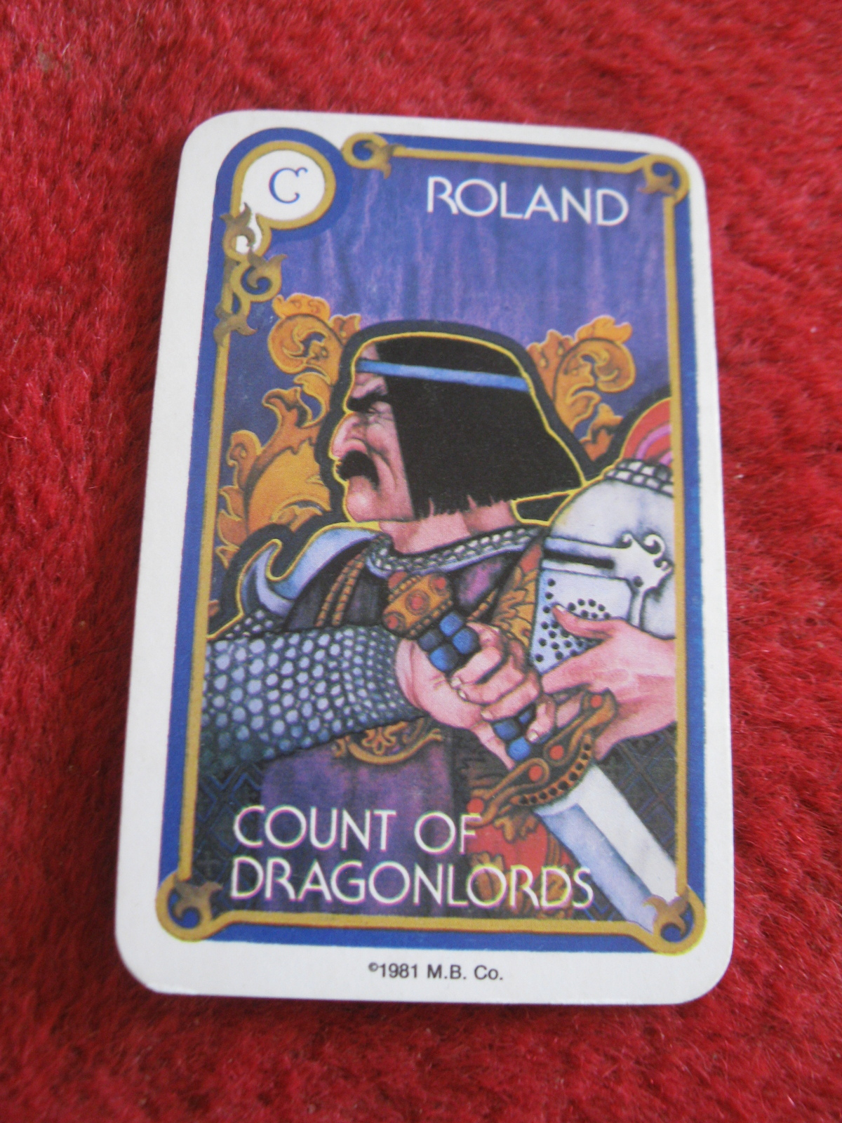 Primary image for 1981 DragonMaster Board game playing card: Roland, Count of Dragonlords