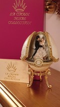 VINTAGE FABERGE style Wedding egg Russian 24k GOLD Real egg  Anniversary Gift  - $599.00