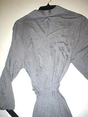 NWT $180 New Natori Gray Robe Womens Long Very Soft Solid XXL Pockets Heathered image 5