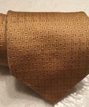 "CLUB ROOM Mens Tie Corn Gold Yellow Abstract Silk 57"" L  3.75"" W Necktie... - $16.99"