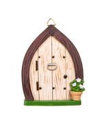Door with Knocker, Hanging Fairy Garden Door, Gnome Garden Door - $7.99
