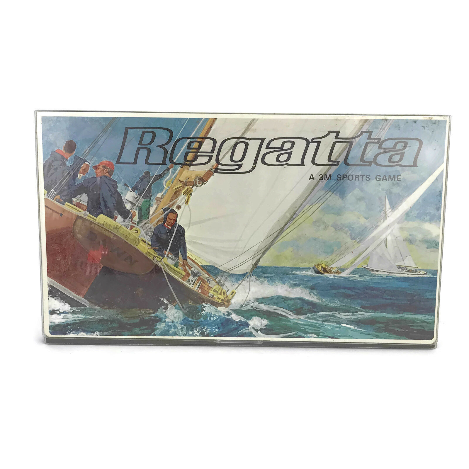 Vintage 1967 Regatta A 3M Sports Sailing Yacht Race Board Game Almost Complete