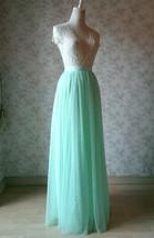 MINT GREEN Full Tulle Skirt Women High Waist Green Wedding Tulle Skirt Plus Size image 4