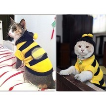 Bumble Bee Pet Costume Dog Cat Halloween Yellow Small Cute Clothes Soft ... - $8.55