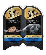 Sheba Perfect Portions Wet Cat Food Cuts In Gravy Tender Trout Entrée, 2... - $19.43