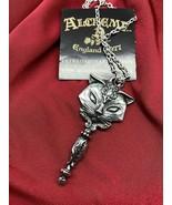 Alchemy England P889 Sacred Cat Vanitas Pendant Necklace Gothic Mirror IN HAND - $30.35