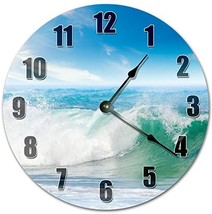 "10.5"" Cool Beach Surfer's Waves Clock - Living Room Clock - Large 10.5"" Wall Clo - $21.59"