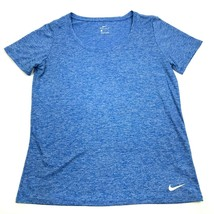 NEW NIKE Dry Fit Boat Neck Shirt Women's Size L Large Blue Heather Tee D... - $18.38