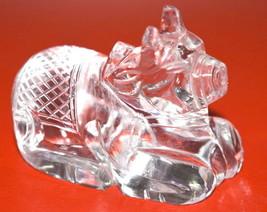 Sphatik Nandi / Quartz Crystal Nandi  - 90 gm  - Lab certified - $115.00