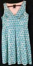 Spense Dress Missy 16 Sleeveless Floral Multi Color V Neck Empire Waist ... - $16.88