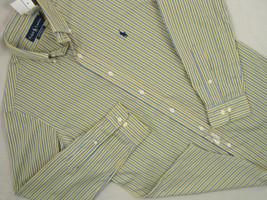 NWT! NEW! $80 Polo Ralph Lauren Custom Fit Striped Oxford Shirt!  18 36 37 - $49.99