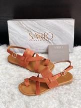 ✨New SARTO By FRANCO SARTO Gia Sandals Suede Burnt Orange Women Size 6M ... - $35.06