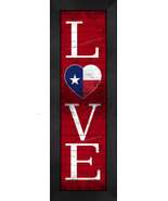 """""""LOVE Texas"""" State Pride With Flag 8 x 24 Framed Print - $39.95"""
