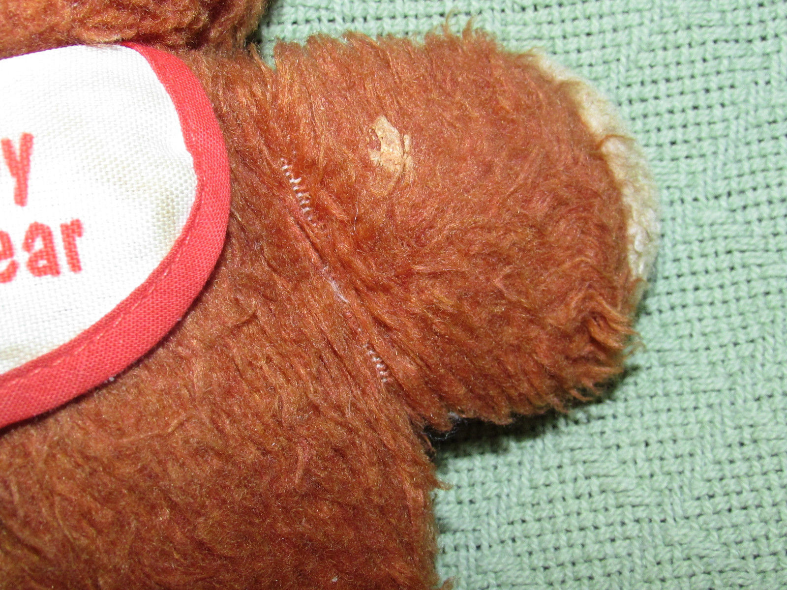 """Vintage Fisher Price BABY BEAR 1984 Plush Teddy Brown Lovey Stuffed #970 10"""" Toy"""