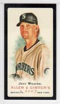 2007 Topps Allen & Ginter Mini Black Border Jeff Weaver Seattle Mariners #167 - $0.99