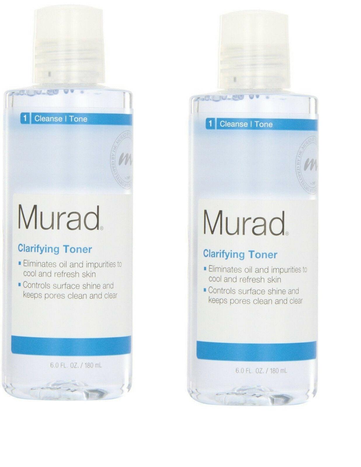 2- Murad Clarifying Toner Step 1 Cleanse/Tone 6 fl oz x 2  - $34.64