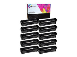 10 Pack Q2612A 12A FULL Toner Cartridges for HP LaserJet 3052aio 3055aio - $60.99