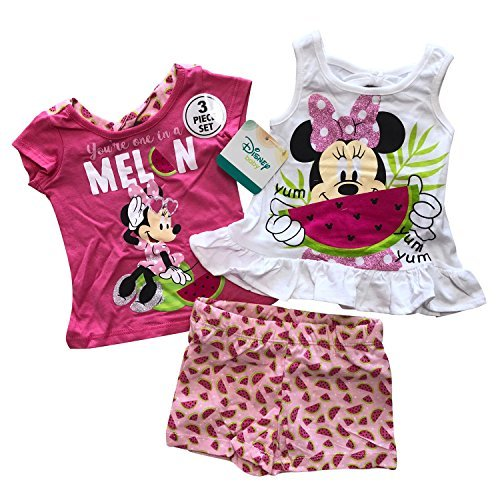 Primary image for Disney Minnie Mouse 3 Pieces Baby Girls Summer Clothing Set,100% Cotton (12Month