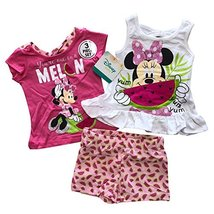 Disney Minnie Mouse 3 Pieces Baby Girls Summer Clothing Set,100% Cotton (12Month - $12.99