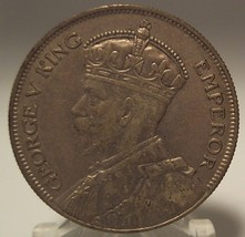 1933 New Zealand Silver 1/2 Crown AU++ #0501 - $49.99