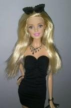 Barbie Model Muse Strapless Little Black Dress Silver Purse Heels Shoes Necklace - $25.00