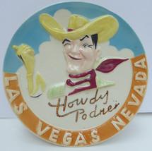 "VINTAGE NICO JAPAN ""HOWDY PODNER"" LAS VEGAS NV COWBOY PLATE hand painted... - $39.59"