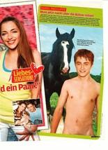 Daniel Radcliffe teen magazine pinup clipping shirtless Naked shirtless Bop