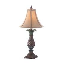 Table Lamp, Vintage Desk Lamp Art, Small Antique Pineapple Lamp For Livi... - $76.04