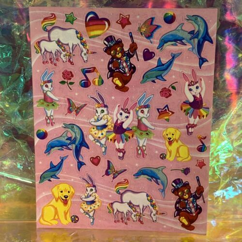 Full S443 Lisa Frank Stickers Characters Bears Markie Unicorn Bunnies Dolphin