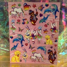 Full S443 Lisa Frank Stickers Characters Bears Markie Unicorn Bunnies Dolphin image 1