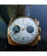 Mens Breitling Top Time 36mm Gold-Plated Hand-Wind Chronograph, c.1970s ... - $3,626.92