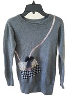Gap Brand Girls Kids Children Top Sweater Pullover Size 10 Gray Long Sle... - $18.00