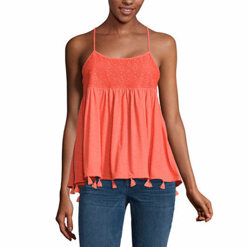 a.n.a. Women's Knit Tank Top Cami Hot Coral Color Size X-Large New
