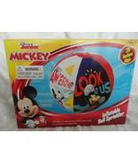 "DISNEY JUNIOR MICKEY MOUSE 28"" INFLATABLE BALL SPRINKLER ROLLS & SPRAYS - $18.50"