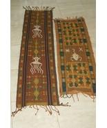 2 Rare Handspun Handwoven Sumba Hinggi Songket Ikat Pigments Nassa Shell... - $180.49