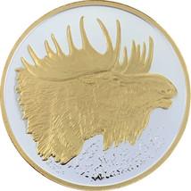 Alaska Mint Moose Medallion Silver Gold Medallion Proof 1 Oz. - $98.99