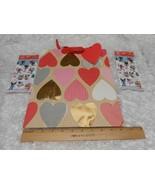 New large Hallmark Valentine Gift Bag & 2 packs of kids stickers - $8.42