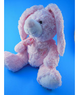 Easter bunny plush Super SOFT Pink with heart patch International toys - $12.86