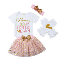 Baby Girls Set 2019 Mothers Day Outfits Baby Girls Romper Bodysuit Tutu ... - $12.00
