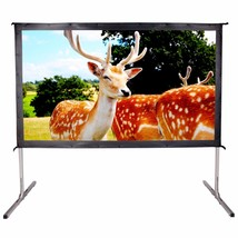 Movie Theater Projector Screen 90 inch 16:9 Ready Portable 4K Ultra Proj... - $129.99