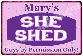 Mary's Purple & Pink SHE SHED Vintage Sign 8x12 Woman Wall Décor A81200020 - $16.95+