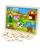 Puzzle Board For Kids, Professor Poplar Busy Barnyard Wooden Kid Puzzle ... - $19.99