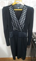 ROBERTO CAVALLI Women Black Dress Size L Long Sleeve Formal Dress 42 8 N... - £166.34 GBP
