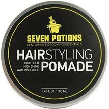 Hair Styling Pomade For Men 3.4 fl oz - High Shine - High Hold - Water Based - N