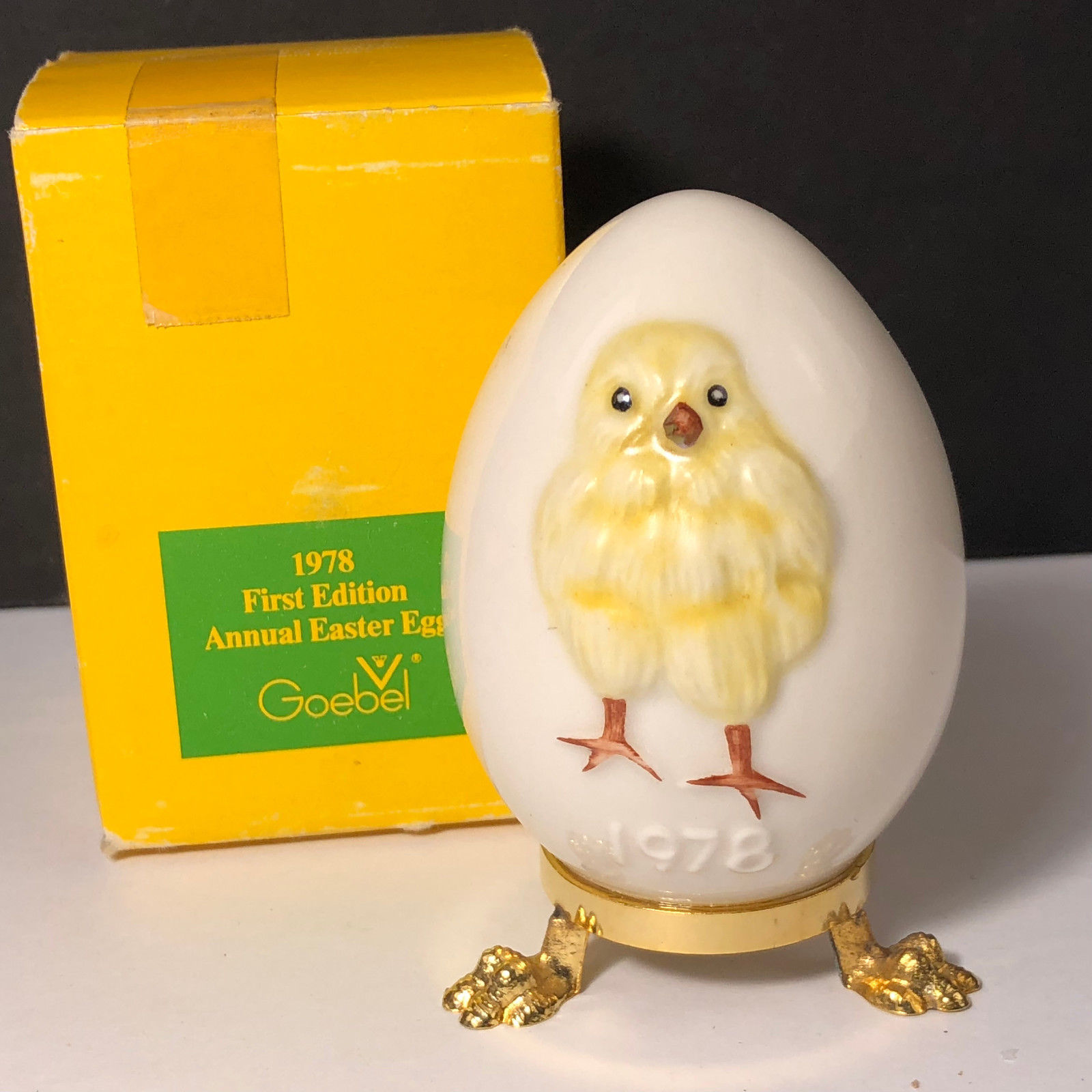 1978 GOEBEL ANNUAL EASTER EGG West Germany first 1st edition chicken figurine 2