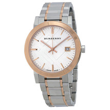 100% NEW Burberry Unisex BU9006 Large Two Tone Stainless Steel Bracelet ... - $222.75