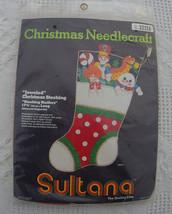 NIP Vintage Sultana Christmas Stocking Needlepoint Kit #32128 Jeweled St... - $27.99