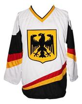 Custom Name # Team Germany Hockey Jersey New Sewn White Scheibler #11 Any Size image 3